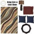 Bring Style & Color Home W/This Inspirational 6PC Accessory Pkg Featuring A 5'x8' Med Pile Area Rug