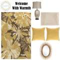 Welcome Your Guests W/This 6PC Transitional Accessory Pkg Featuring A 5'x8' Medium Pile Area Rug