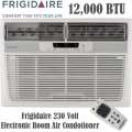 Frigidaire 12,000 BTU 230V Electric Room Window/Wall Air Conditioner With Remote & Heating Elements