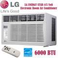 LG 6,000 BTU 115V Electric Room Window Air Conditioner With Remote In White Finish