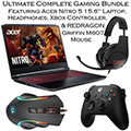 """Acer Nitro 5 15.6"""" Laptop Intel Core I5 Gaming Bundle w/Microsoft Controller, Wired Headset & Mouse"""