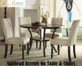 Fresh Contemporary Design 5-Piece Dinette Set With Nailhead Accents On Both Table & Chairs