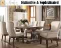 7PC Dining Pkg Featuring High Back Parson Chairs W/Salvage Brown Finish Dining Table With 1-18� Leaf