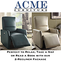 Great Value; Featuring 2-Recliner Package with Power Motion in Blue or Beige Leather-aire