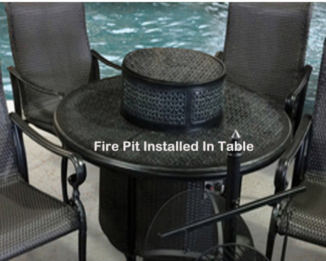 Wyndermere Gas All Inclusive Club Chat Set Featuring Built In Fire Pit |  Luther Appliance And Furniture