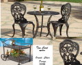 Fiesta 3 Piece Bistro Set And Matching Tea Cart