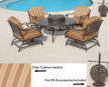 Brentwood 6 Piece All-Inclusive Motion Set Featuring Ice Bucket & Firepit