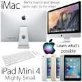 "Apple 2PC Bundle;21.5"" iMac 3.4GHz Intel Quad Core i5 Desktop Computer + 64GB iPad Mini 4 With WiFi"