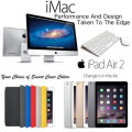 "Apple 3PC Great Bundle; 27"" iMac 3.2GHz with Retina 5K Display, 128GB iPad Air 2 & Smart Cover"