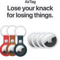 Lose Your Knack for Losing Things with 4 AirTags and Choice of 2 AirTag Leather Rings