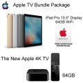 Apple TV Bundle Pack W/Apple 64GB iPad Pro W/Touch ID, Retina & WiFi, The NEW Apple TV & HDMI Cable