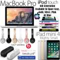 "Apple/Beats 5PC Bdl W/13.3"" McBkPro, 128GB iPadMini4 WiFi, 32GB iPdTch 6thG, Pill+ & Solo3 Headphone"