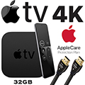 Apple TV 4K 32GB with Siri Remote, AppleCare Protection Plan & HDMI Cable