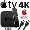 Apple TV 4K 64GB with Siri Remote, AppleCare Protection Plan & HDMI Cable