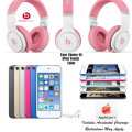 Feel The Beat With Dr Dre Nicki Pink Headphones, Apple 64GB 6th Gen iPod Touch & Apple Care+