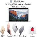 """Apple MacBook 12"""" 1.1GHz IntelCore M3-8G 256GB Ntbk Computer w/Retina Display & AppleCare Protection"""