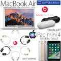 "Apple/Beats 4PC Bundle W/13.3"" MacBookAir, 32GB iPadMini 4 WiFi, BeatsPill+ & Beats Solo3 Headphones"