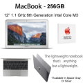 "Apple 12"" MacBook Display-Intel Core M3-8GB/256GB  Notebook With AppleCare 3YR Protection Plan"