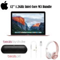 "Apple 12"" Macbook Bundle With Beats By Dre Solo Headphones & Beats Pill +"