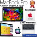 Apple 13.3� 256GB MacBookPro 1.4GHz Intel Core i5 Notebook W/AppleCare 3YR Plan