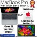 Apple 13.3� 256GB MacBookPro 2.9GHz Intel Core i5 Space Gray Or Silver Notebook W/AppleCare 3YR Plan