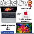 Apple 13.3� 256GB MacBookPro 3.1GHz Intel Core i5 Space Gray Or Silver Notebook W/AppleCare 3YR Plan