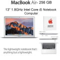 "Apple MacBook Air 13"" 256GB 1.8GHz Intel Core i5 Notebook with 3YR Apple Care Plan"
