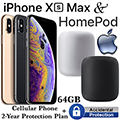Apple 64GB iPhone Xs Max *UNLOCKED* & 2Yr ProtectionPlan+Accidental Damage Bundled W/HomePod Speaker