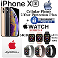 Apple 64GB iPhoneXs *UNLOCKED* & 44MM Ser4 Sport GPS Watch W/PhoneProtect+Acc & AppleCare+ For Watch
