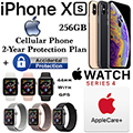 Apple 256GB iPhoneXs *UNLOCKED* & 44MM Ser4Sport GPS Watch W/PhoneProtect+Acc & AppleCare+ For Watch