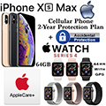 Apple 64GB iPhone Xs Max *UNLOCKED* & 44MM Series 4 Sport GPS Watch W/Phone Protect+Acc & AppleCare+