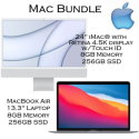 """Mac Bundle Featuring 24"""" iMac� w/Retina 4.5K display & Touch ID with MacBook Air 13.3"""" Laptop"""
