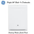 "GE Profile 24"" Built-In Dishwasher With Hidden Controls-Available In White"