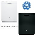 "GE 24"" Built-In Dishwasher-Available In White Or Black"