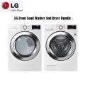 Bundle Up & Save With The LG Laundry Center Featuring Front Load Steam Washer & Electric Steam Dryer