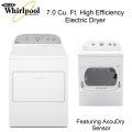 Whirlpool 7.0 Cu. Ft. Front Load HE Electric Dryer Featuring 13 Cycles - Available In White