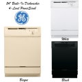 "GE 24"" Built-In Dishwasher W/4 Level PowerScrub-Available In Bisque, White Or Black"