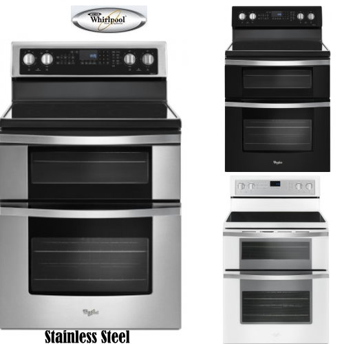 Whirlpool Double Oven Electric Range With Ceramic Glass Cooktop