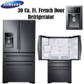 Samsung 30 cu. ft. 4 Door French Door Refrigerator- Available In Black Stainless Steel