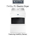 Maytag Bravos 7.4 Cu. Ft. XL Electric Dryer With IntelliDry� Sensor - Available in White