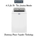 Maytag 4.3 Cu. Ft. White Bravos Top Loading Washer- Available In White