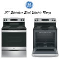 "GE 30"" Free-Standing Electric Range-Available In Stainless Steel"
