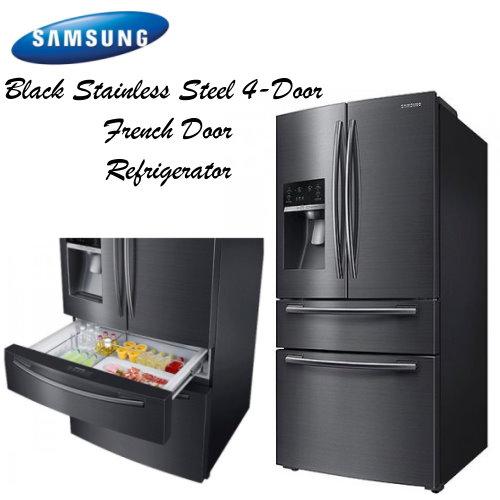 Samsung Stainless Steel 4 Door French Door Refrigerator Wbottom