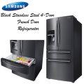 Samsung Stainless Steel 4-Door French Door Refrigerator W/Bottom Freezer-Availble In Black