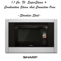 Sharp 1.1 Cu. Ft. SuperSteam + Combination Steam & Convection Oven- Black/Stainless Steel Finish