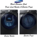 Samsung Black Stainless Steel Front Load Washer & Electric Dryer Set