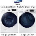 Samsung White Front Load Washer & Electric Steam Dryer-Available In White