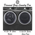 GE Diamond Gray Laundry Duo-4.8 Cu. Ft. Steam Washer & 7.5 Cu. Ft. Electric Steam Dryer