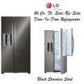 LG 26 Cu. Ft.  Side-By-Side With Door-In-Door Refrigerator-Available In Black Stainless Steel