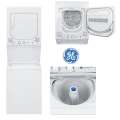 "GE 24"" Unitized Spacemaker 4.4 CuFt Stack Washer with 2.3 CuFt Electric Dryer includes Hoses & Cords"